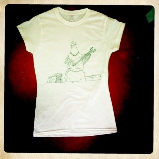 Busking Pigeon Womens T-Shirt