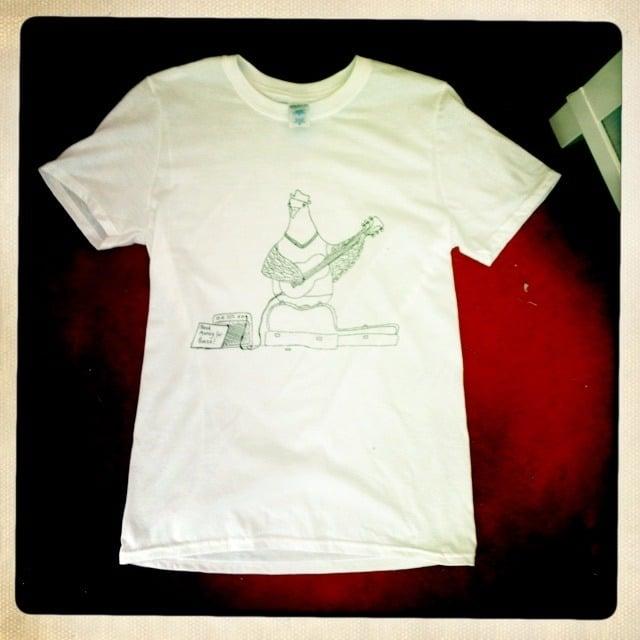 Busking Pigeon Mens T-Shirt