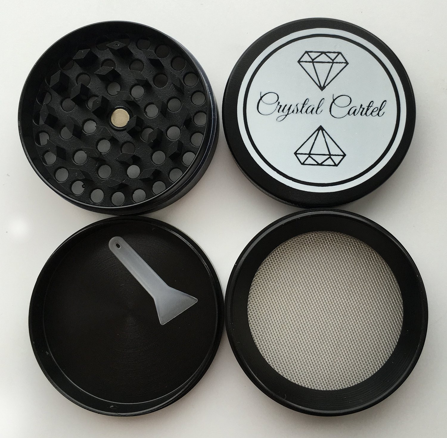 All parts of the Crystal Cartel Grinder