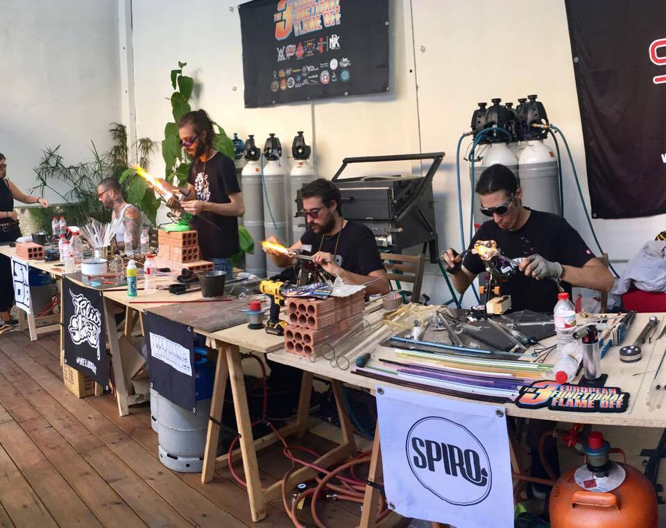 Glassblowing Competition at Dab-a-Doo 2016