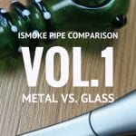 Pipe comparison : titanium Journey Pipe vs. glass Chongz pipe