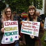 Cannabis is medicine: Patients at Parliament Protest, London