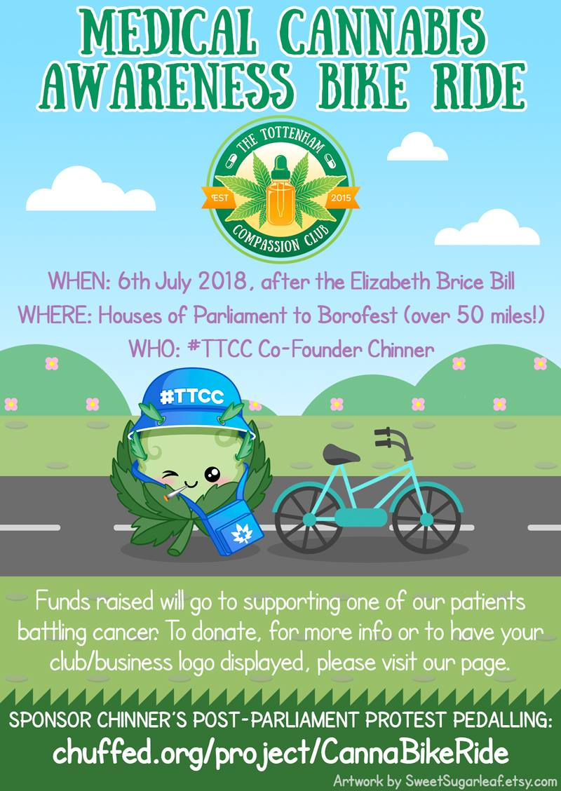 , Tottenham Compassion Club Medical Cannabis Awareness Bike Ride