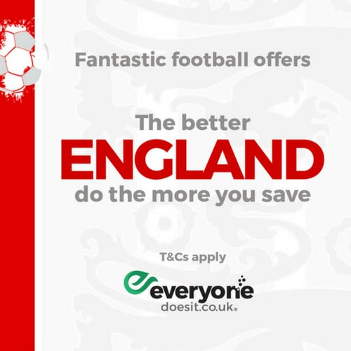 ENGLAND World Cup Discounts with EDIT UK
