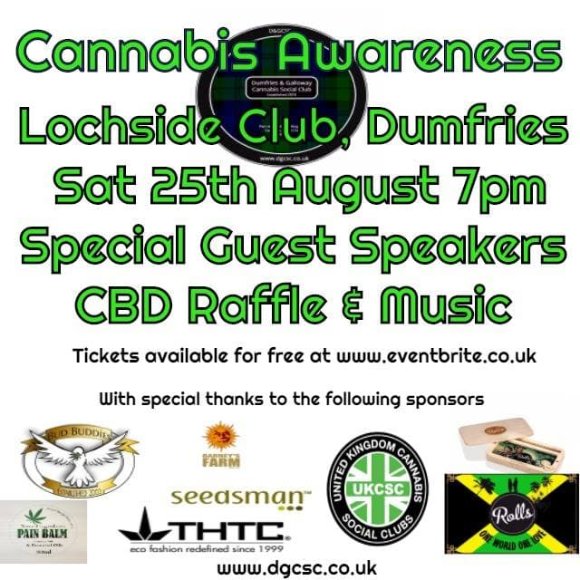 , We attended Dumfries & Galloway Cannabis Awareness Event August 2018