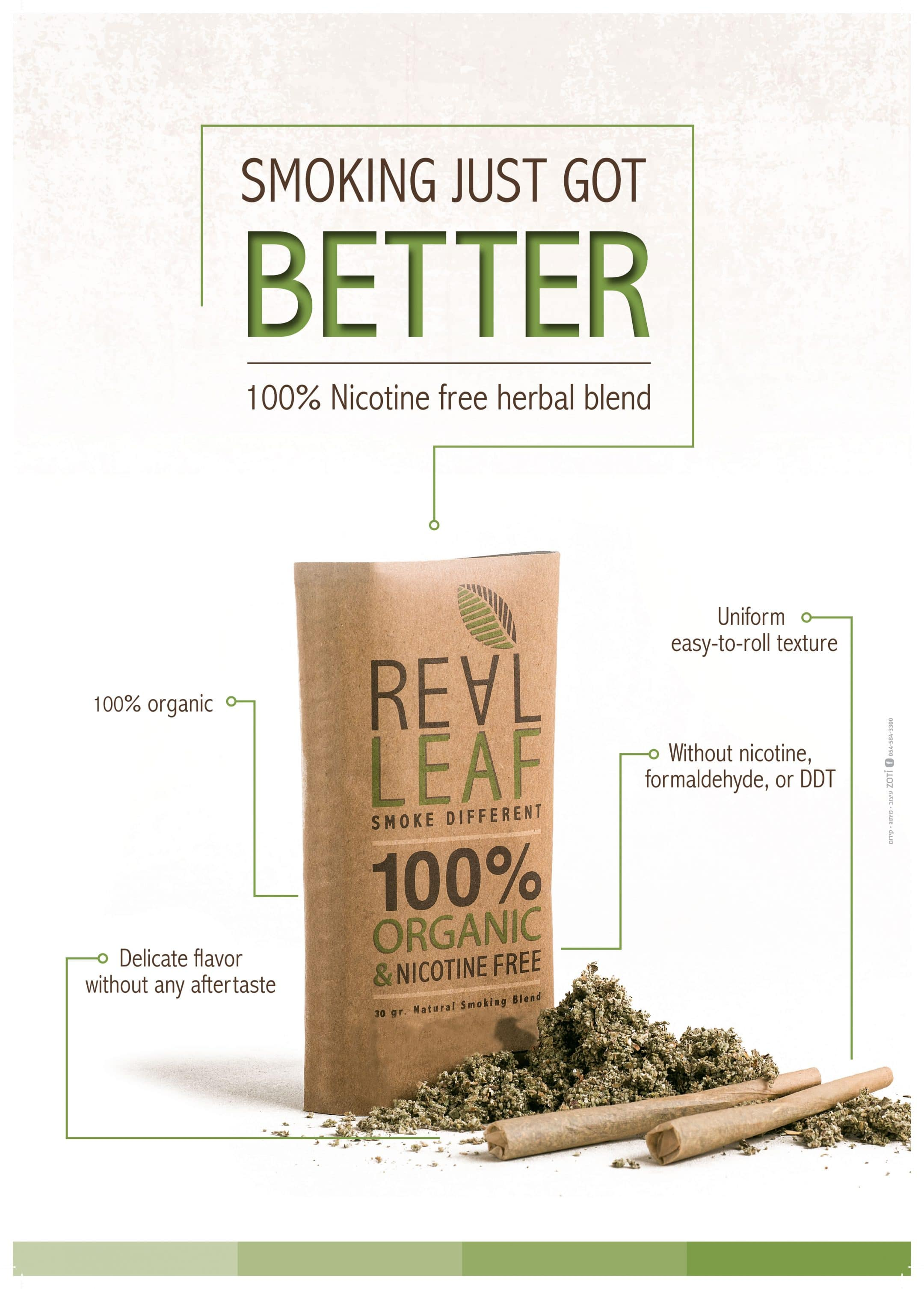 Real Leaf, REAL LEAF Tobacco Alternative