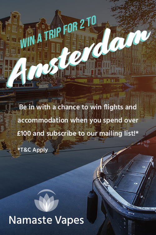 Win a trip to Amsterdam with Namaste Vapes!